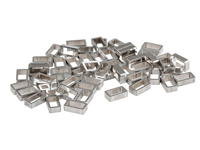 Sterling Silver Rectangular Tube   Runners H788 5.5mm X 3.1mm, 1.58mm Length, 0.46mm Wall Thickness