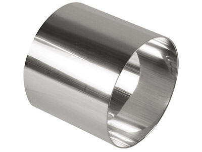 Sterling Silver Napkin Ring Round  40mm Unhallmarked H1864