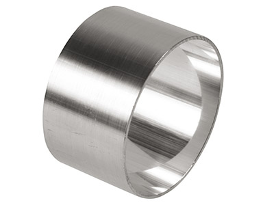 Sterling Silver Napkin Ring, Round, Unhallmarked, Diameter 43mm