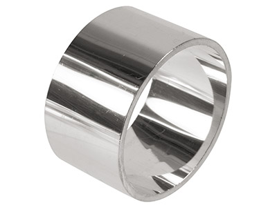 Sterling Silver Napkin Ring Round  45mm Unhallmarked