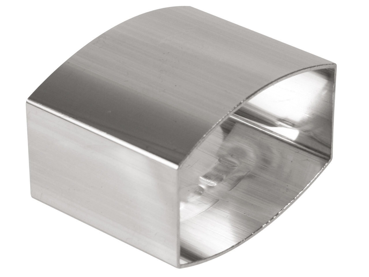Sterling Silver Napkin Ring Oval   Unhallmarked With Flat Sides
