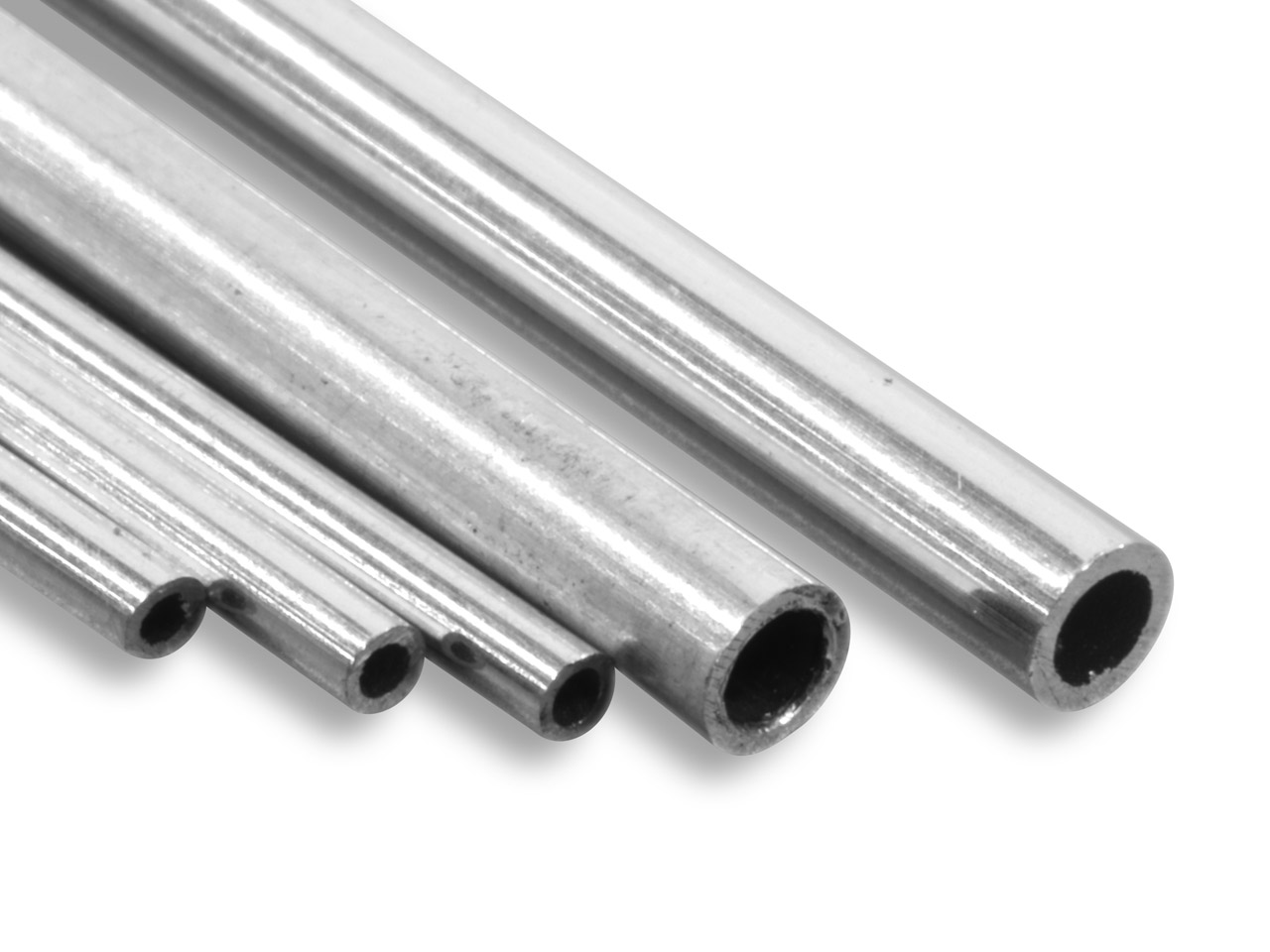 18ct Medium White Tube, Ref 2,     Outside Diameter 4.5mm,            Inside Diameter 3.5mm, 0.5mm Wall  Thickness