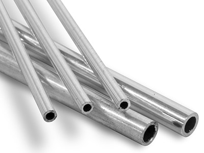 Sterling Silver Tube Ref 2       Outside Diameter 4.5mm            Inside Diameter 3.5mm 0.5mm Wall  Thickness