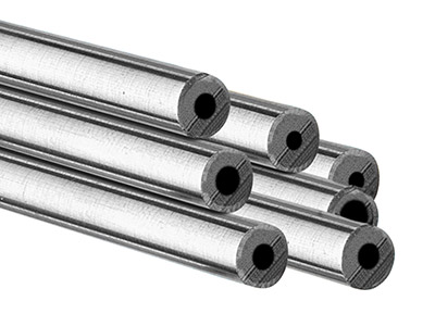 Sterling Silver Jt Tube,           Outside Diameter 6.35mm,           Inside Diameter 1.55mm, 2.4mm Wall Thickness