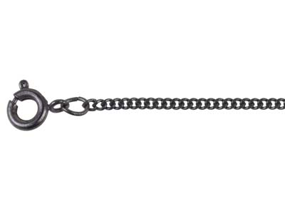Antique Black 1.8mm Curb Chain 1845cm