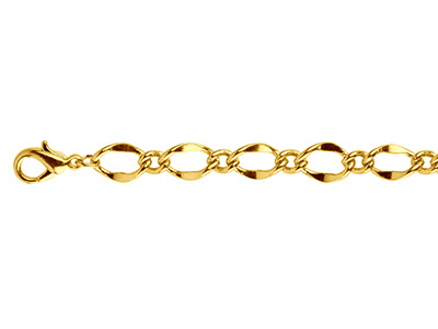 Gold Plated 7.0mm Figaro Chain     2460cm Unhallmarked