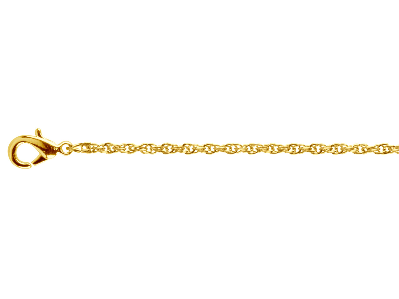 Gold Plated Rope 1.8mm 16