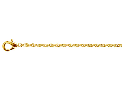Gold Plated 1.8mm Rope Chain       1845cm Unhallmarked