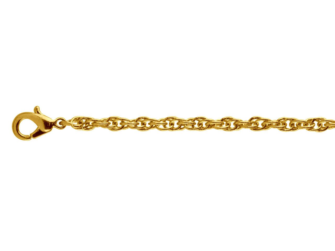 Gold Plated Rope 2.8mm 16