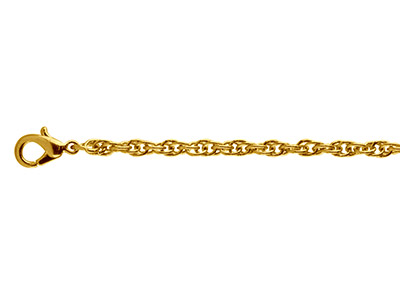 Gold Plated 2.8mm Rope Chain       1845cm Unhallmarked