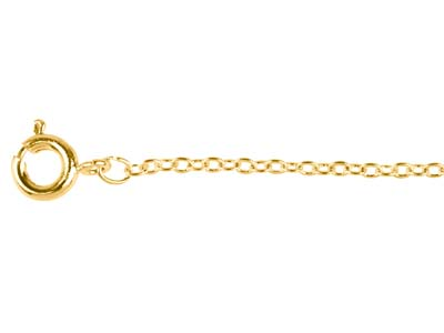 Gold Plated 1.6mm Trace Chain      1640cm Unhallmarked