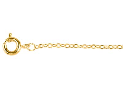 Gold Plated 1.6mm Trace Chain      1845cm Unhallmarked