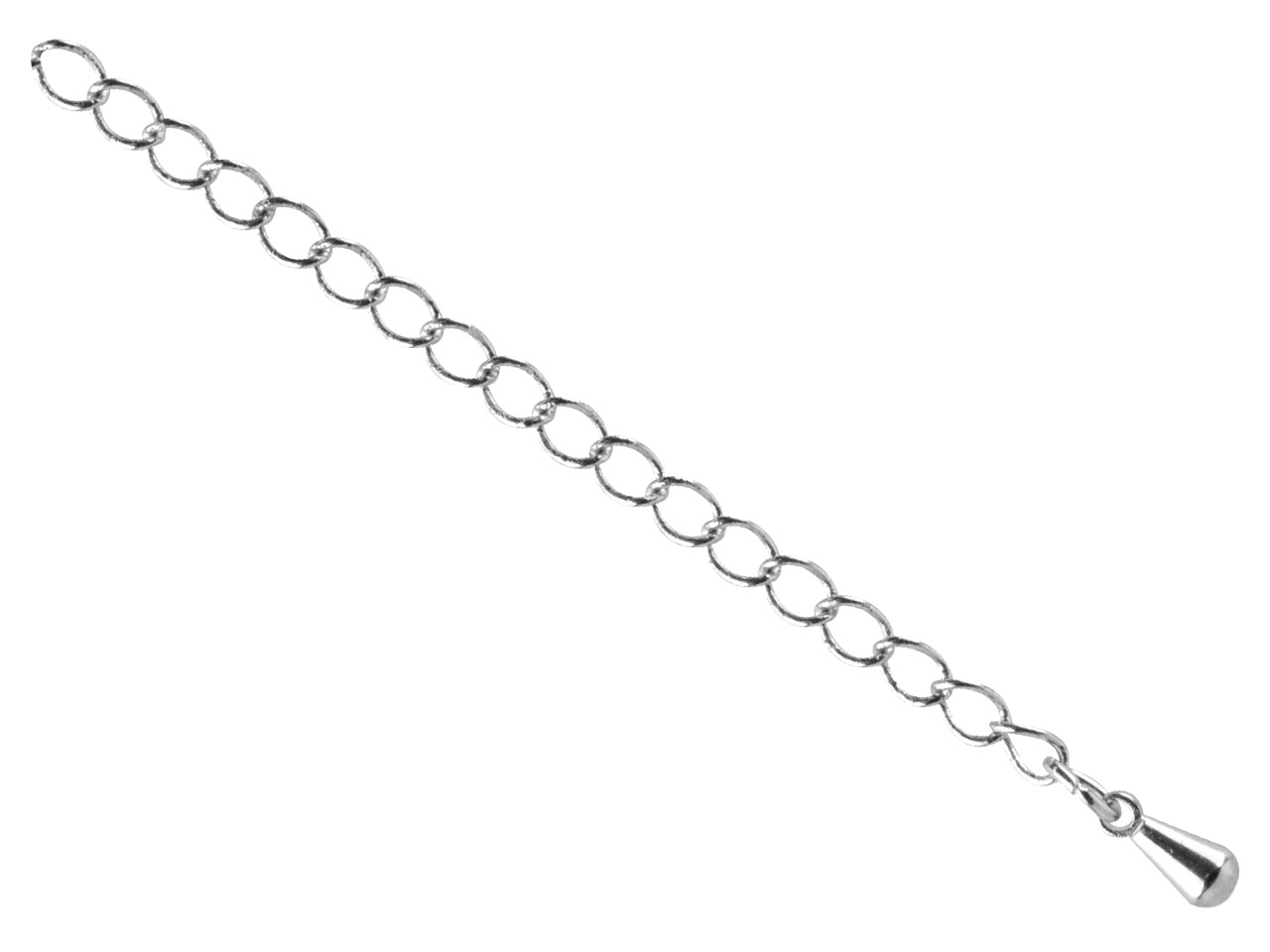 Surgical Steel 4.5mm Extension     Chain With Dropper, Large