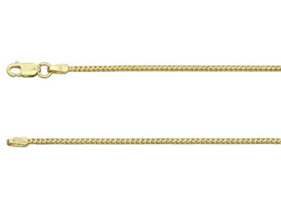 9ct Yellow Gold 1.3mm Franco Chain 1845cm Hallmarked
