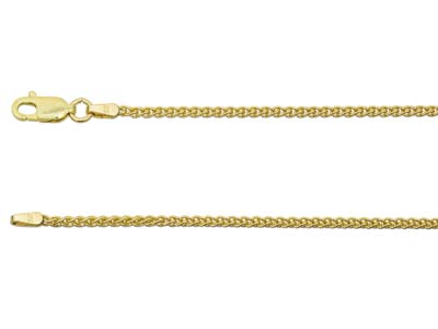 9ct Yellow Gold 1.5mm Spiga Chain  1845cm Hallmarked