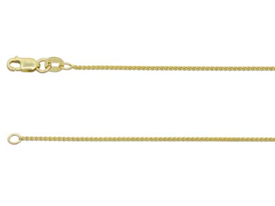 9ct Yellow Gold 1.0mm Spiga Chain  2050cm Hallmarked