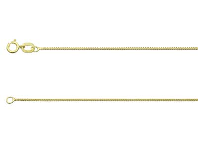 9ct Yellow Gold 0.8mm Diamond Cut  Curb Chain 1845cm Hallmarked