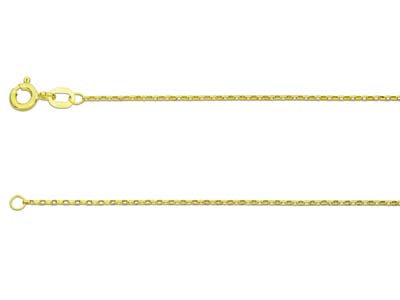 9ct Yellow Gold 1.0mm Diamond Cut  Belcher Chain 1845cm Hallmarked