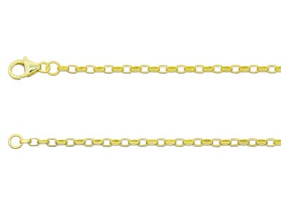 9ct Yellow Gold 2.2mm Diamond Cut  Belcher Chain 2460cm Hallmarked