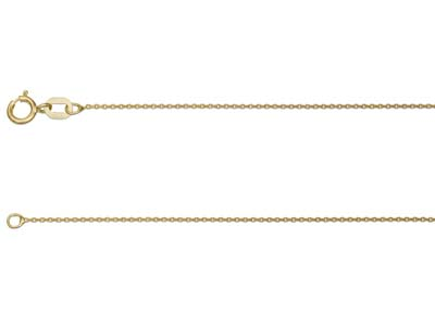9ct Yellow Gold 0.8mm Belcher Chain 2050cm Unhallmarked
