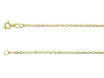 9ct Yellow Gold 1.7mm Belcher Chain 2050cm Hallmarked
