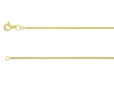 9ct Yellow Gold 1.3mm Curb Chain   1845cm Hallmarked