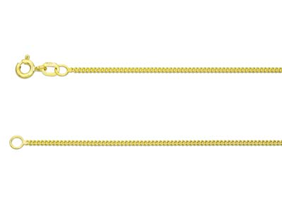 9ct Yellow 1826 Curb 1845cm Hallmarked