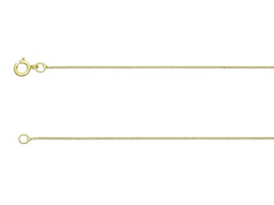 9ct Yellow Gold 0.5mm Diamond Cut  Curb Chain 1640cm Unhallmarked