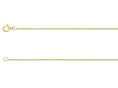9ct Yellow Gold 0.7mm Diamond Cut  Curb Chain 1845cm Unhallmarked