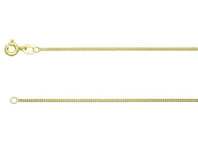 9ct Yellow Gold 0.8mm Diamond Cut  Curb Chain 2050cm Hallmarked