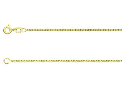 9ct Yellow Gold 1.3mm Diamond Cut  Curb Chain 1845cm Hallmarked