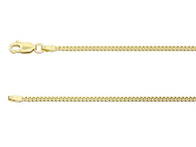 9ct Yellow Gold 1.8mm Diamond Cut  Curb Chain 1845cm Hallmarked