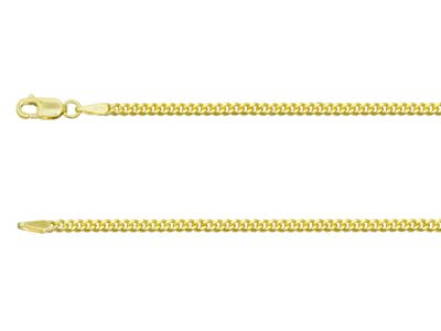 9ct Yellow Gold 2.1mm Diamond Cut  Curb Chain 2460cm Hallmarked
