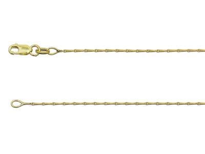 9ct Yellow Gold 1mm Barleycorn     Chain 2050cm Hallmarked