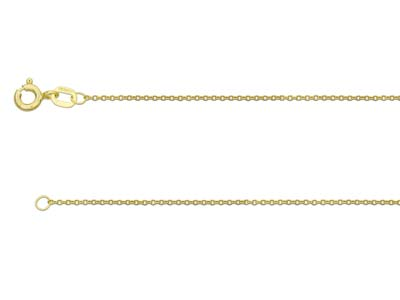 9ct Yellow Gold 1.0mm Cable Chain  1845cm Hallmarked