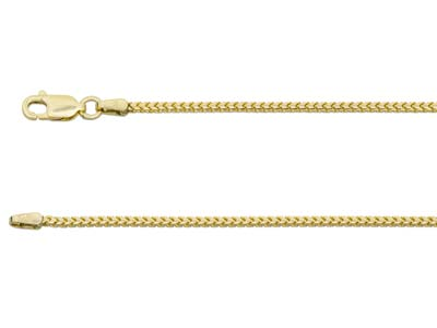 9ct Yellow Gold 1.4mm Franco Chain 1845cm Hallmarked