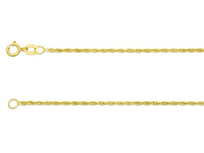 9ct Yellow Gold 1.2mm Rope Chain   2255cm Hallmarked
