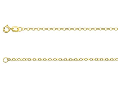9ct Yellow Gold 1.7mm Trace Chain  1845cm Hallmarked