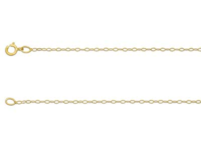 9ct Yellow Gold 1.2mm Trace Chain  1845cm Unhallmarked