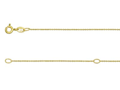 9ct Yellow Gold 0.9mm Extendable    Hammered Trace Chain 16-1840-45cm Unhallmarked