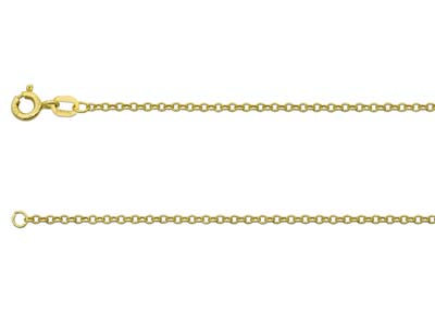 9ct Yellow Gold 1.6mm Trace Chain  1845cm Hallmarked