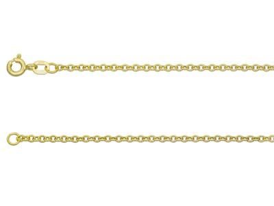 9ct Yellow Gold 2.0mm Trace Chain  1640cm Hallmarked