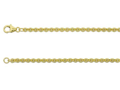 9ct Yellow Gold 3.0mm Cable Chain  1845cm Hallmarked