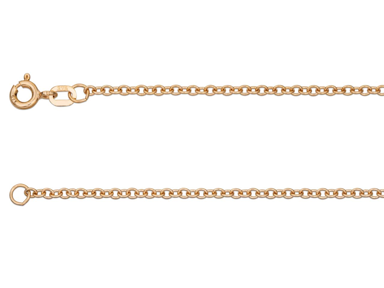 9ct Red Gold 0.5mm Trace Chain     16