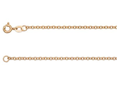 9ct Red Gold 0.5mm Trace Chain     1845cm Hallmarked