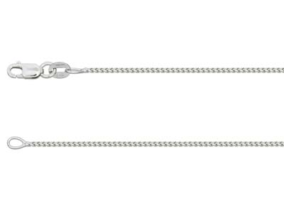 9ct White Gold 1.4mm Franco Chain  1640cm Hallmarked