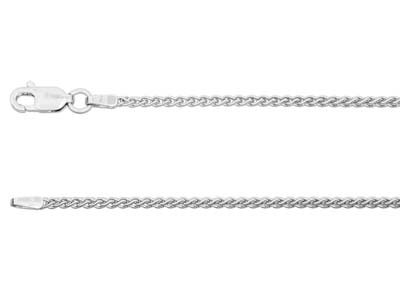 9ct White Gold 1.5mm Spiga Chain   1845cm Hallmarked