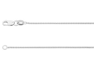 9ct White Gold Spiga Finished Chain
