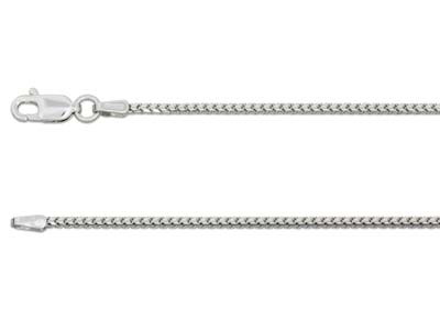9ct White Gold 1.3mm Franco Chain  2050cm Hallmarked