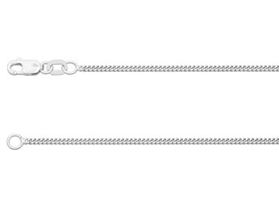 9ct White Gold 1.2mm Diamond Cut   Curb Chain 1845cm Hallmarked